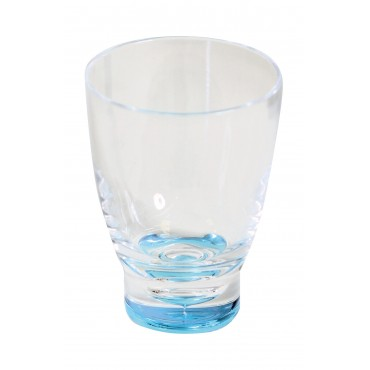 Quest Elegance Low Polycarbonate Tumbler 'Glass' - Blue