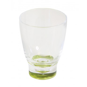 Low Polycarbonate Tumbler 'Glass' - Lime