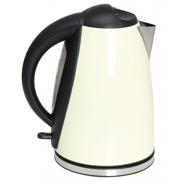 Quest Premium 1.8 Litre Low Wattage Stainless Steel Cream Kettle