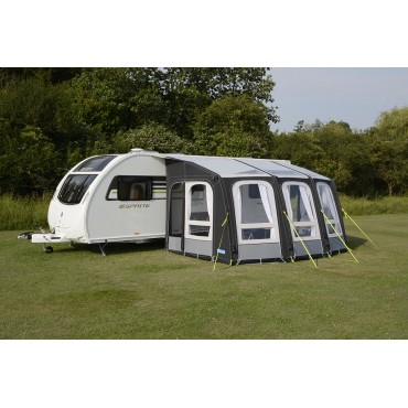 "2018 Kampa Ace AIR Pro 400 ""Dual Pitch Roof"" Caravan Inflatable Awning"