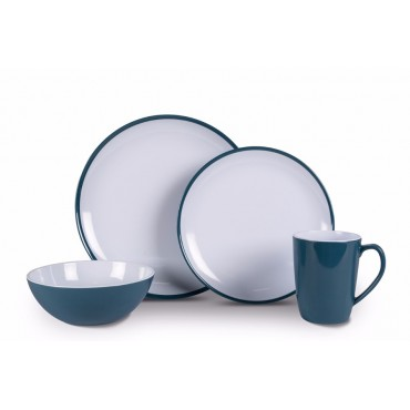 Quest Leisure Latte 16 Piece Lightweight Dinner Set for Camping Melamine