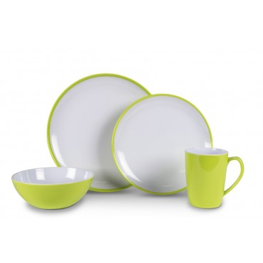 Picnic / Melamine 16 piece Dinner Set - Citrus Green Summer