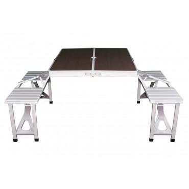 Gloucester Deluxe Alloy Framed Folding Picnic Table Set