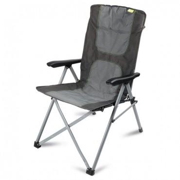 Kampa Consul Folding Reclining Camping Chair - Charcoal