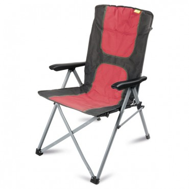 Kampa Consul Folding Reclining Camping Chair - Red