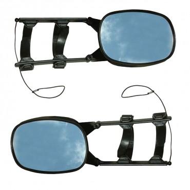 Crusader Unifit Scissor Towing Mirror Twin Pack (1 x Flat, 1 x Convex)