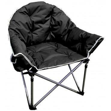 Comfort Padded Folding Tub Chair - Black