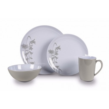 Picnic / Melamine 16 piece Dinner Set - Meadow Heritage