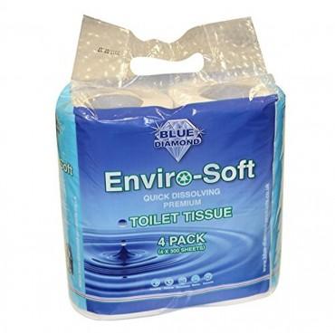 Blue Diamond Camping Toilet Tissue Roll 4pk