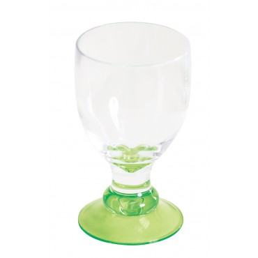 Quest Elegance Polycarbonate Goblet 'Glass' - Lime