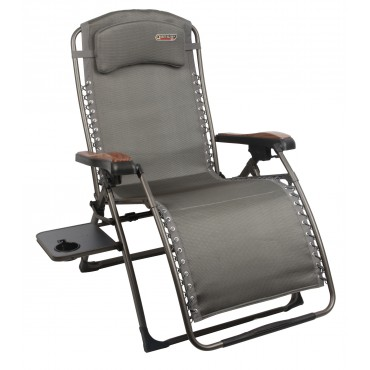 Quest Elite Naples Pro Relaxer Reclining Folding Chair with Side Table