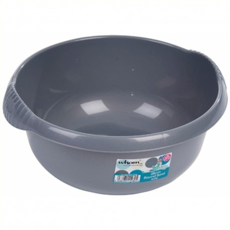 Small 28cm Round Washing up Bowl - Silver