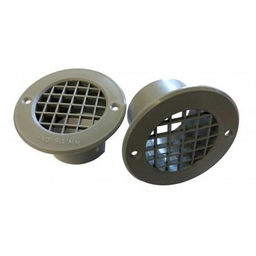 Gas Drop Vent Grey 35mm x 2