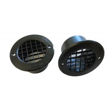 Gas Drop Vent Black 35mm x 2