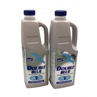 Elsan Double Concentrated Blue Toilet Chemical - 2 litre x 2