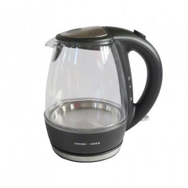 Swiss Lux Low Wattage 1.0 Litre Glass Cordless Kettle