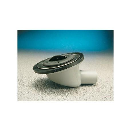 "Stainless Steel Angled Sink Waste & Plug- 1 1/4""  3/4"