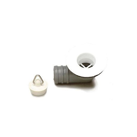 "Sink/Basin Angle White Waste & Plug - 3/4"""