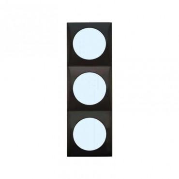 Berker Triple Frame - Flow Design -Anthracite