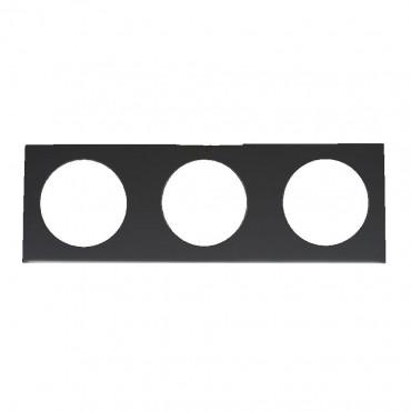 Berker Triple Frame - Pure Design - Gloss Black