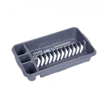 Wham Casa Medium Plastic Dish Drainer - Silver