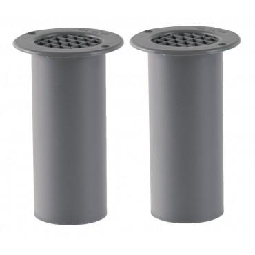 Gas Drop Vent Grey 120mm x 2