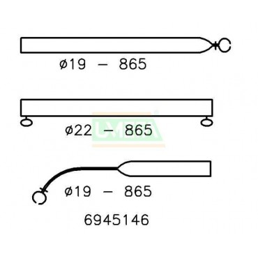 Caravan Awning Steel Roof Stretching Bent Pole 22/19mm 165-255cm
