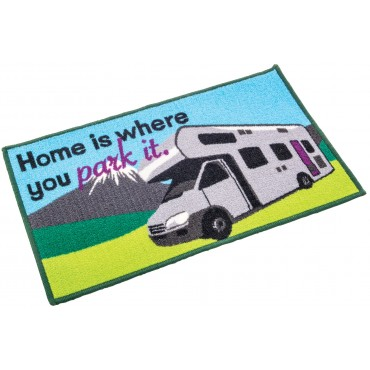 """Motorhome """"Home is where you pitch it"""" Door Mat"""
