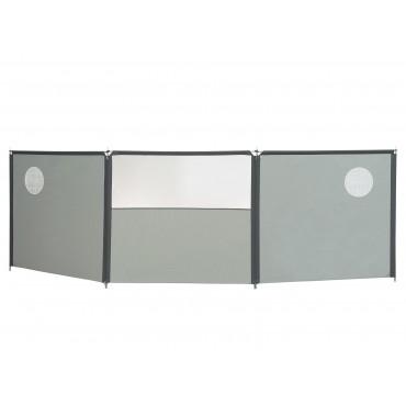Isabella Windscreen Three Section Windbreaker with Windows - Grey