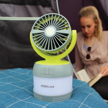 Outdoor Revolution 3 in 1 USB Rechargeable Light & Fan