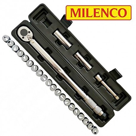 Milenco Caravan Wheel Torque Wrench Safety Set + 20 Wheel Nut Indicators