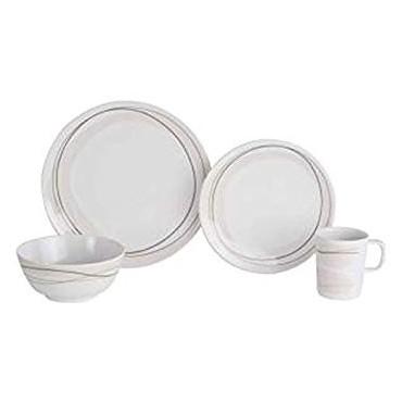Picnic / Melamine 16 piece Dinner Set - Cappuccino