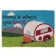 """Quest Heavy Duty Caravan Coir Home is where you tow it"""" Door Mat"""