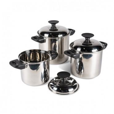 Kampa Stainless Steel Stacking Saucepan Set