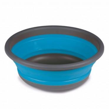 Large Collapsible Round Washing Up Bowl - Blue