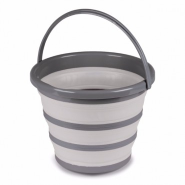 Kampa 10 Litre Collapsible Silicone Sided Bucket - Grey
