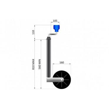 Trailer 34mm Light Duty Jockey Wheel