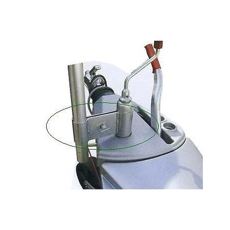 Caravan Rotary Airer / Washing Line / Satellite Mast Jockey Wheel Clamp