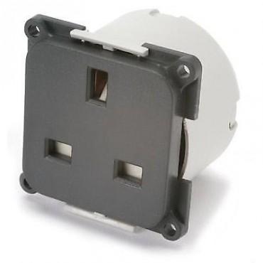 C-Line 240v Mains Socket With Back Box-Anthracite