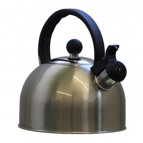 ViaMondo Stainless Steel Gas Hob 2 Litre Whistle Kettle - Soft Gold