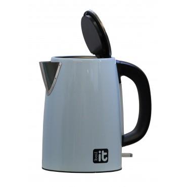 ViaMondo Boil it Low Wattage Stainless Steel 1.7 Litre Cordless Blue Kettle