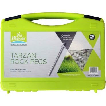 Hardstanding Rock Peg Set - Pk Of 20 - Via Mondo