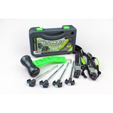 Outdoor Revolution Deluxe Storm Pegs, Straps and Mallet Kit