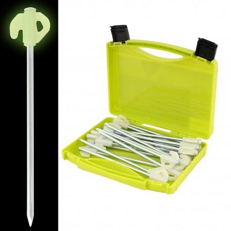 ViaMondo Glow Heavy Duty Pegs - Pack of 20 with Case