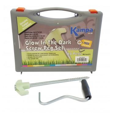 Kampa Glow in the Dark Rock Peg Tent / Awning Hardstanding Rock Peg Set