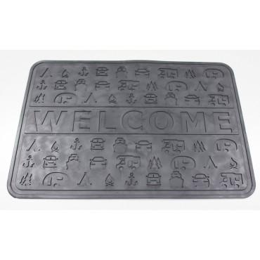 Outdoor Revolution Lightweight Non-slip PVC 45 x 31 cm Welcome Door Mat