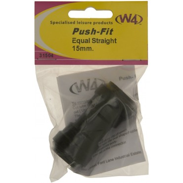 Pipe Quick Push Fit 15mm Straight Join