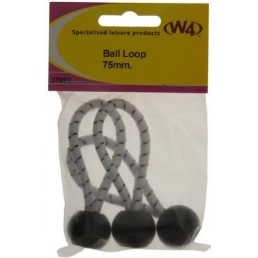 W4 75mm* Elasticated Ball Loops - Pack Of Three