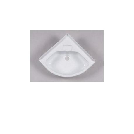 Small Corner Basin For Caravan Or Camper - White