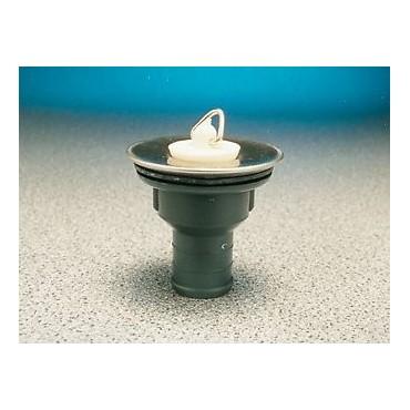 "Sink/Basin Stainless Waste & Plug - 3/4"""